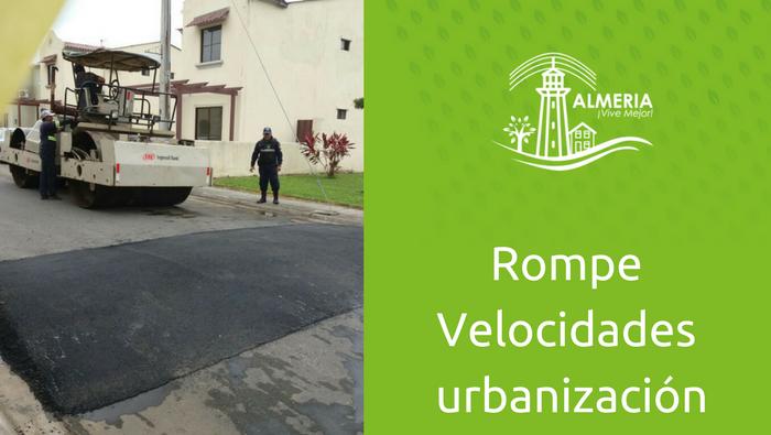 Rompe velocidades de asfalto en urbanización