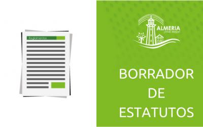Borrador de Estatuto Urb. La Rioja etapa Almería para ser aprobado en Asamblea