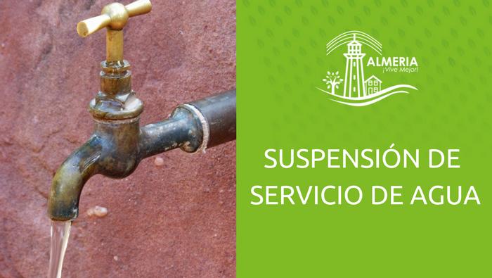Suspensión de Servicio de Agua 25 Abril 2018