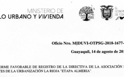 Nombramiento de Directorio 2018-2020 por parte de MIDUVI
