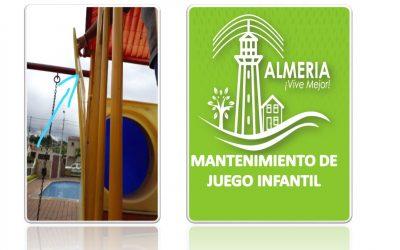 MANTENIMIENTO DE JUEGO INFANTIL  AREA SOCIAL