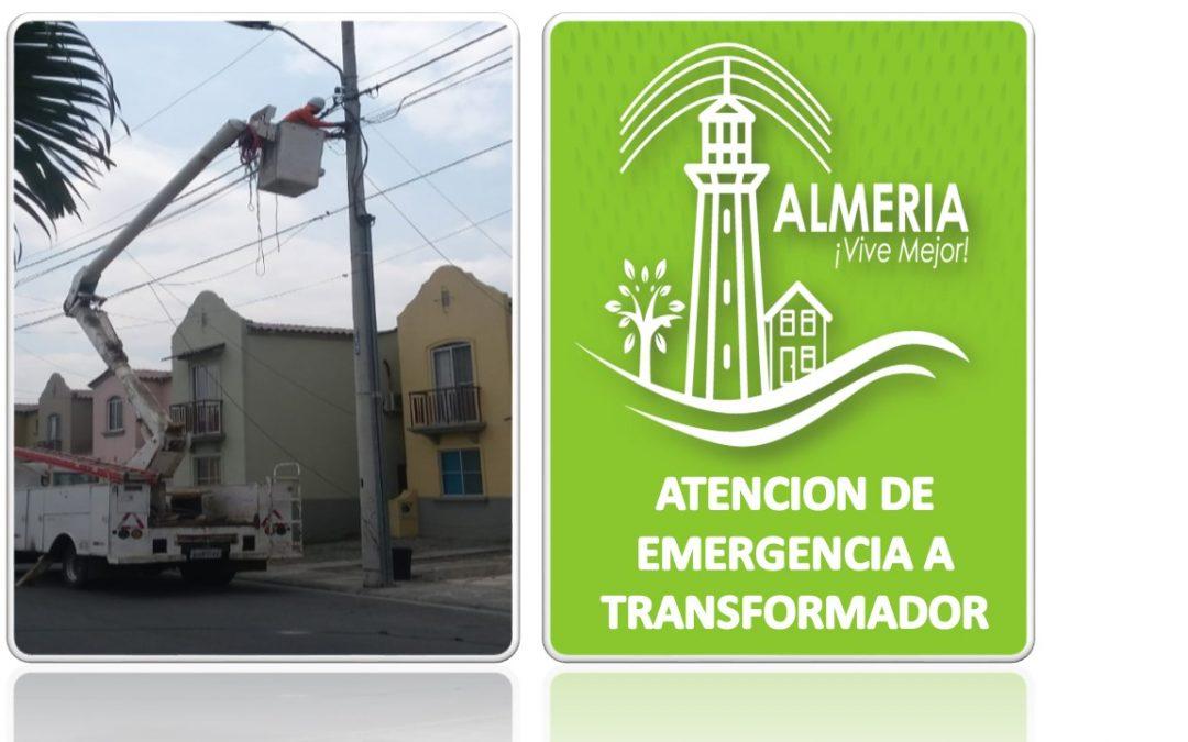 ATENCIÓN DE EMERGENCIA A UN TRANFORMADOR DE LA MZ 16 V 26