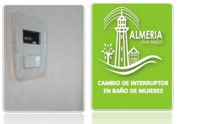 CAMBIO DE INTERRUPTOR BAÑO DE MUJERES