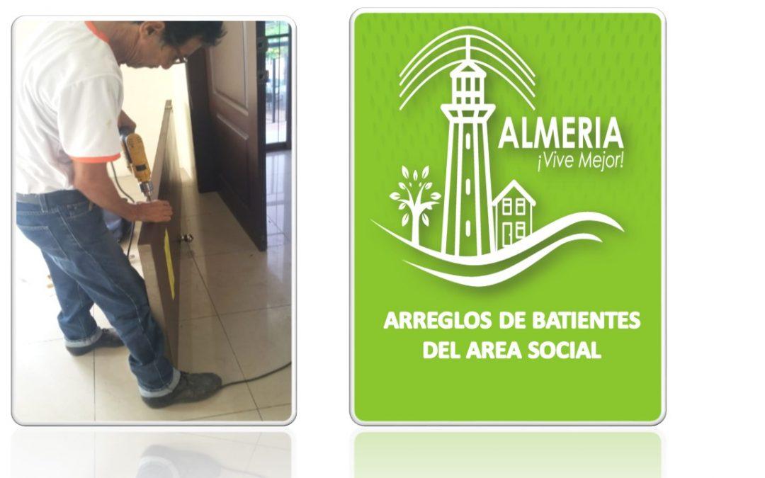 ARREGLOS DE BATIENTES DEL AREA SOCIAL