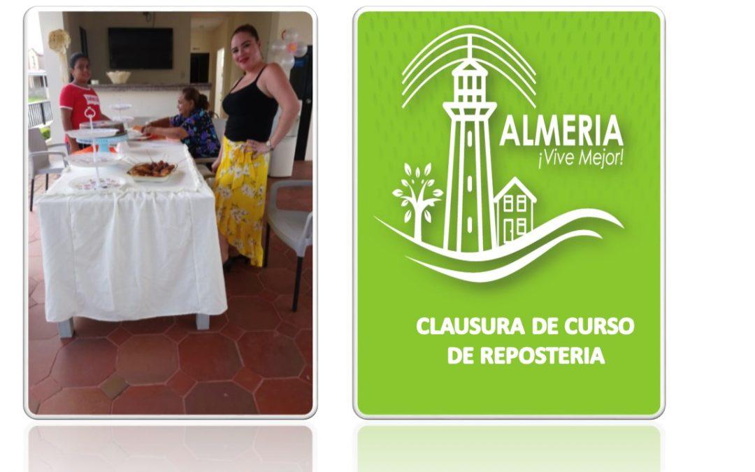 CLAUSURA DE CURSO DE REPOSTERIA