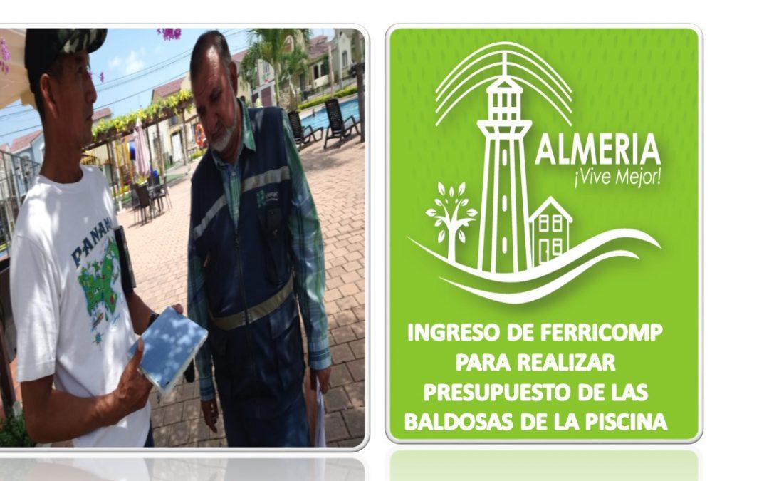 INGRESO DE FERRICOMP PARA REALIZAR PRESUPUESTO DE ARREGLO DE BALDOSAS EN PISCINA