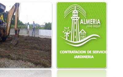 CONTRATACION DE SERVICIO DE JARDINES BRYAN PARA ARREGLO DE TODA LAS AREAS VERDES