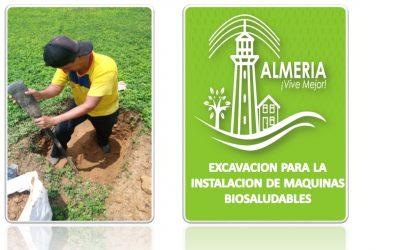 EXCAVACION PARA UBICACION DE MAQUINAS BIOSALUDABLES