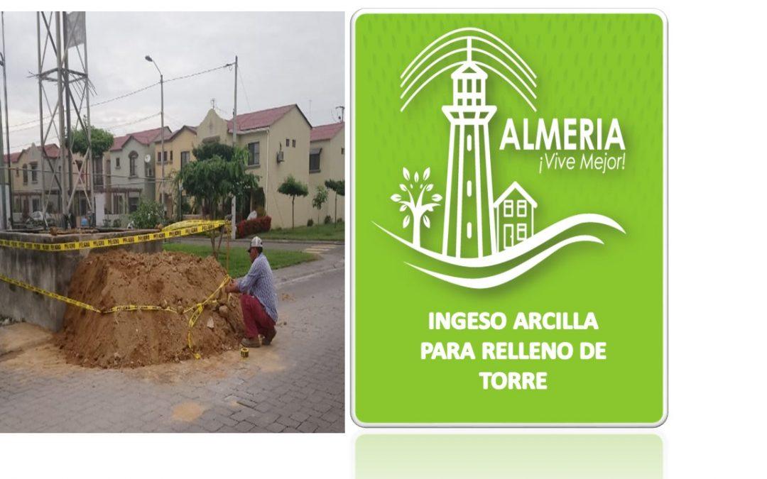 INGRESO DE MATERIAL PARA RELLENEAR  LA TORRRE ELECTRICA